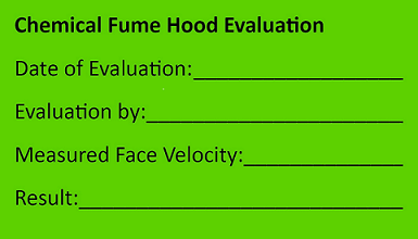 fumming hood calibration